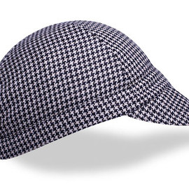 WALZ CAPS - Four Panel Black Houndstooth Wool Cycling Cap