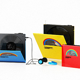 ROCKET & WINK - rawman 3000. portable vinyl players
