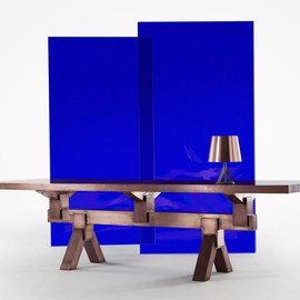 Rough & Smooth collection by Tom Dixon - Mass Dining Table