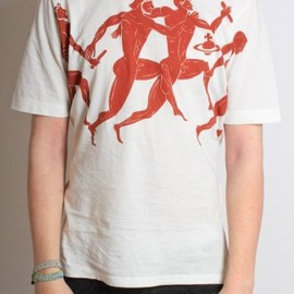 Vivienne Westwood MAN - Olympian Print T-Shirt in Off White
