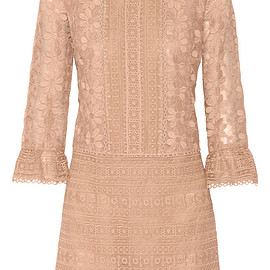 ANNA SUI - Embroidered organza dress