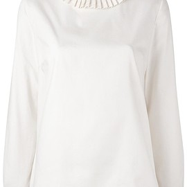 A.P.C. - pleated neck loose-fit blouse