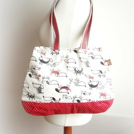 Luulla - Red dogs shopper tote