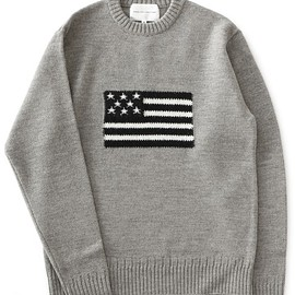 ANALOG LIGHTING - L/S Flag Knit (grey/white)