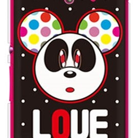 SECOND SKIN - Love Panda ホワイトドット (ソフトTPUクリア) design by Moisture / for Xperia UL SOL22/au