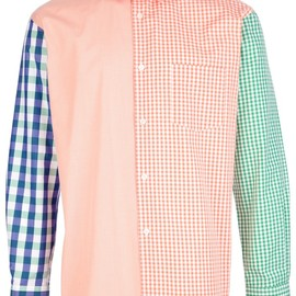 COMME des GARÇONS SHIRT - CHECKED COLOUR BLOCK SHIRT