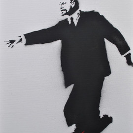 Banksy - Lenin on RollerBlades (2003, 41x31, spray on canvas, edition of 25)