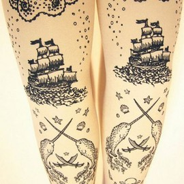 Brittany High - Pirate tights
