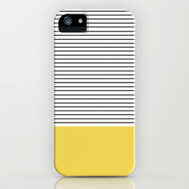 society6 - MINIMAL Green Stripes iPhone & iPod Case
