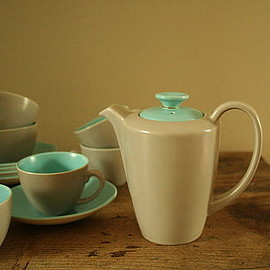 Poole Pottery - Poole Pottery Twin Tone Coffee Set