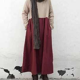 maxi dress, Winter dress - maxi dress, Winter dress, Long dress, womens Winter robe, Winter gown
