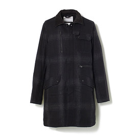 White Mountaineering - FLANNEL CHECK POCKET COAT