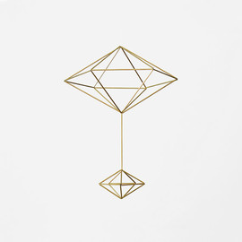 HRUSKAA - Brass Pendulum Himmeli  / Modern Hanging Mobile / Geometric Sculpture / Minimalist Home Decor