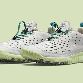 NIKE - Free Trail Run - Light Smoke Grey/Teal Green/Barely Lime?