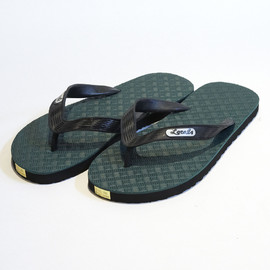 Locals - Geometric Pattern Beach Sandals (Green×Black)