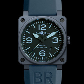 Bell & Ross - BR03 92 Ceramic Blue mate close up Bell & Ross | Blue Ceramic