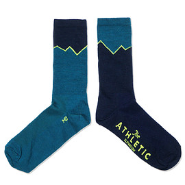 The Athletic - Elevation Wool Sock - Lapis & Navy