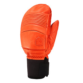 HESTRA - 31471 LEATHER FALL LINE MITT FLAME RED