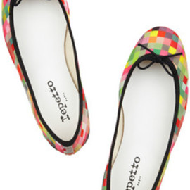 repetto - BB printed canvas ballet flats