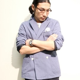 BEAMS PLUS - Double Breasted Jacket (Chino Cloth)
