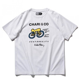 CHARI&CO - CHARI&CO for Keith Haring / CITY CYCLES ロゴ Tシャツ