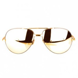LINDA FARROW - Luxe 24-Carat Gold Plated Aviators