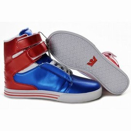 supra tk society blue red and white 2012 high top men shoes - supra tk society blue red and white 2012 high top men shoes