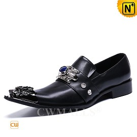 CWMALLS - Haute Couture Mens Black Leather Dance Shoes CW719033 | CWMALLS.COM