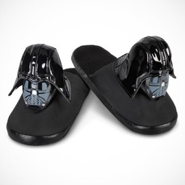Men's Black Color Star Wars Darth Vader Slippers - Men's Black Color Star Wars Darth Vader Slippers