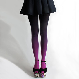 BZR  - bzr Ombré tights in Fuschian Violet