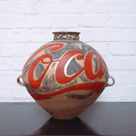 Ai Weiwei - Neolithic Culture Pot with Coco-Cola Logo