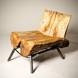 SouthStBoatbuilders - Silver Ghost Chair - Salvaged live-edge maple chair