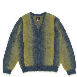 NEEDLES - Mohair Cardigan-Ombre Stripe-Olive
