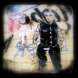Luulla - Graffiti Photo 5x5 Street Art TtV Photography Print - Home Decor Urban Photograph