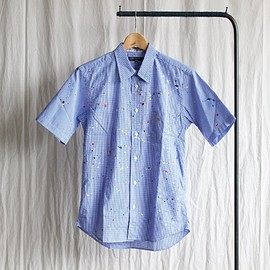 COMME des GARCONS HOMME - COTTON BROAD CLOTH SHIRT by INDIVIDUALIZED SHIRTS #blue check
