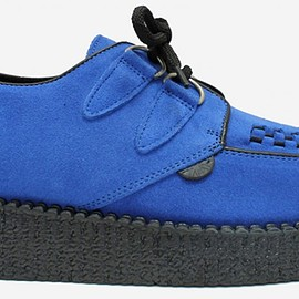 Underground - Wulfrun Single Sole Royal Blue Suede - SPECIAL ORDER