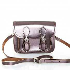 Zatchels - Metallic Pewter Micro Satchel