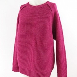 RHRB - LOWGAUGE KNIT Pullover raspberry