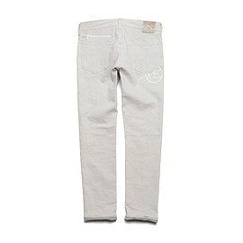 uniform experiment - SLIM-FIT STRETCH RIGED JEANS (PYTHON PATCH) (SWAROVSKI ZIP)