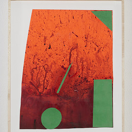 """Sterling Ruby - """"DRFTRS (5033)"""", 2014, collage and paint on paper, 36.2 x 28.6 cm"""