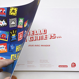 invader - HELLO MY GAME IS... | book + stickers