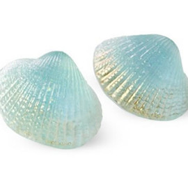 Marianne Olry - Shell Earrings, Blue