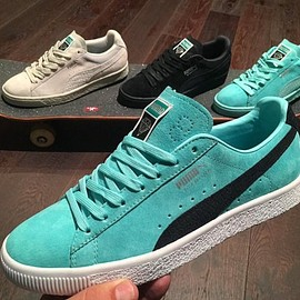 PUMA, Diamond Supply Co. - Suede - Aqua Teal/Black
