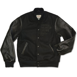 S/Double - Taylors of Fortune Varsity Jacket - Black/Black