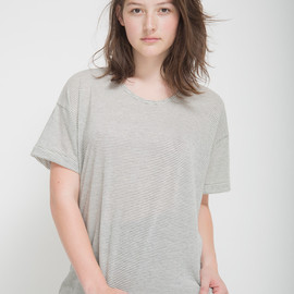 American Apparel - Unisex Stripe Le New Big Tee