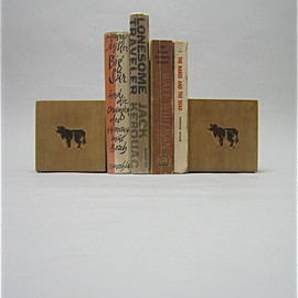 COW BOOKS - bookends small