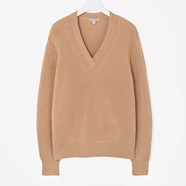 cos - V-NECK RIBBED JUMPER