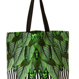 Monki - Daria Tote Bag Botanical Stripe