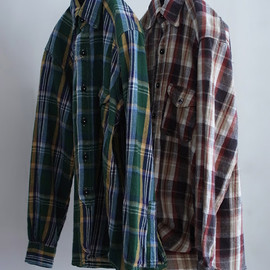 WASTE(TWICE) - check flannel outing shirt