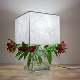 SHareStudios - Wide Square Terrarium/Display Table Lamp with